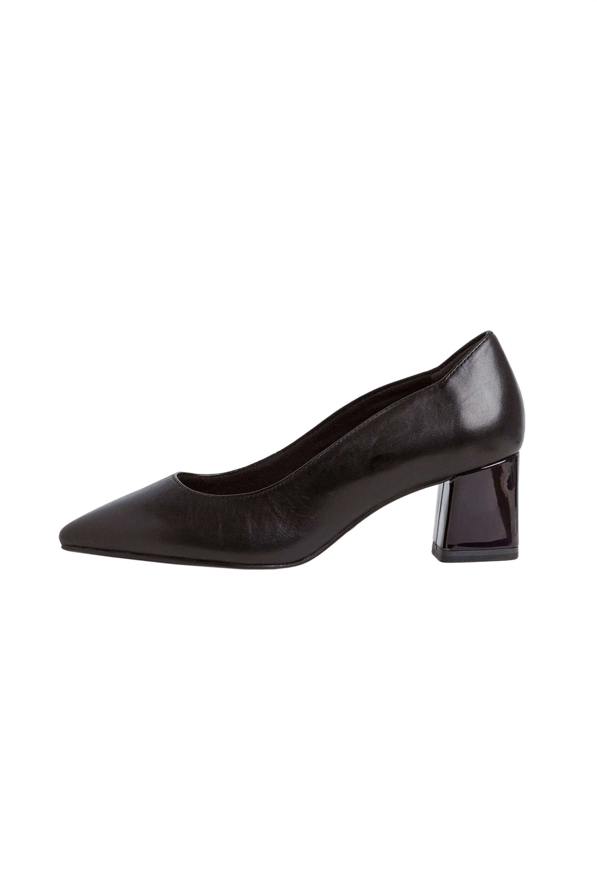 Tamaris γυναικείες γόβες με χοντρό τακούνι – 1-1-22419-25 – Μαύρο