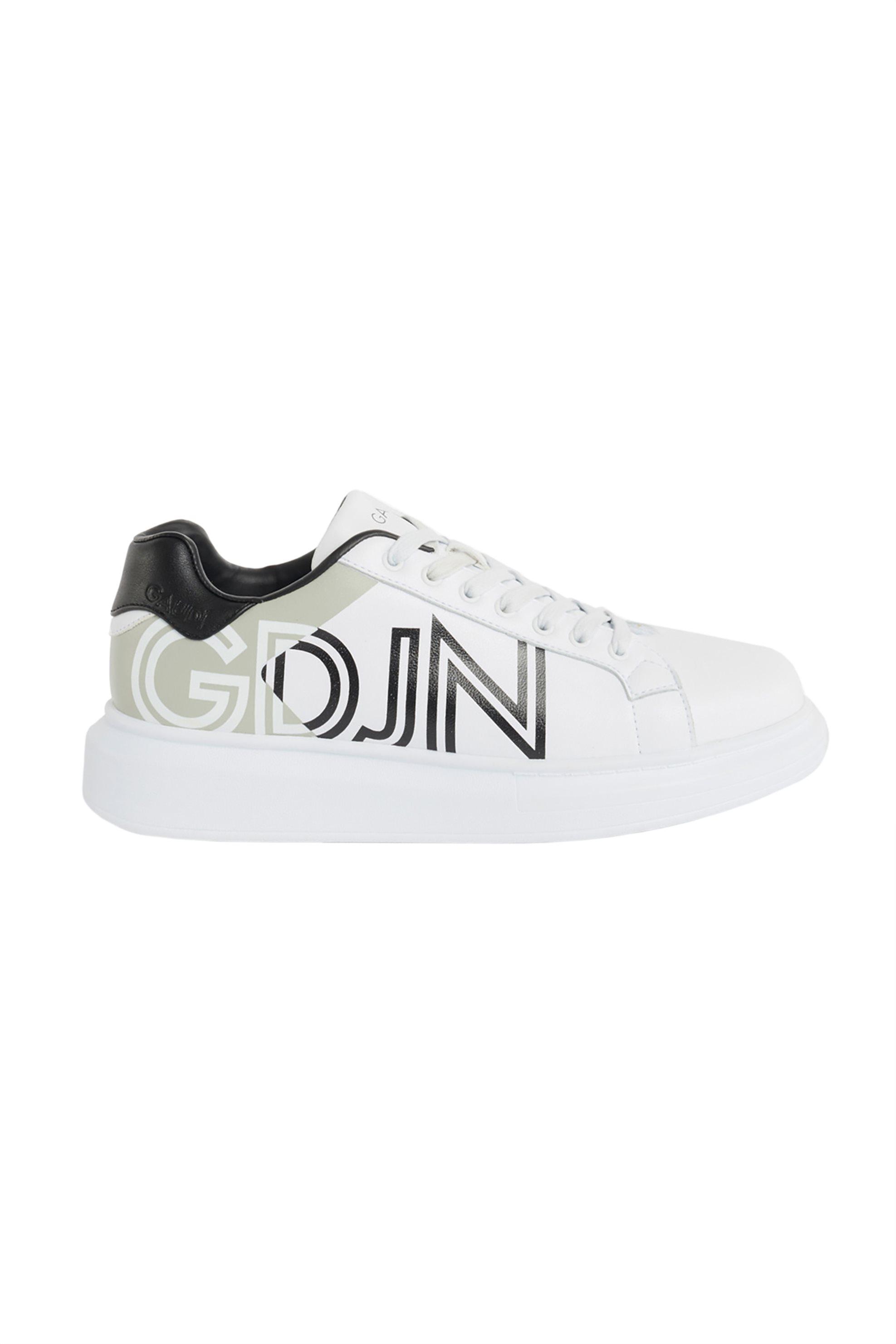 Gaudi ανδρικά sneakers με logo print – V11-61472 – Λευκό