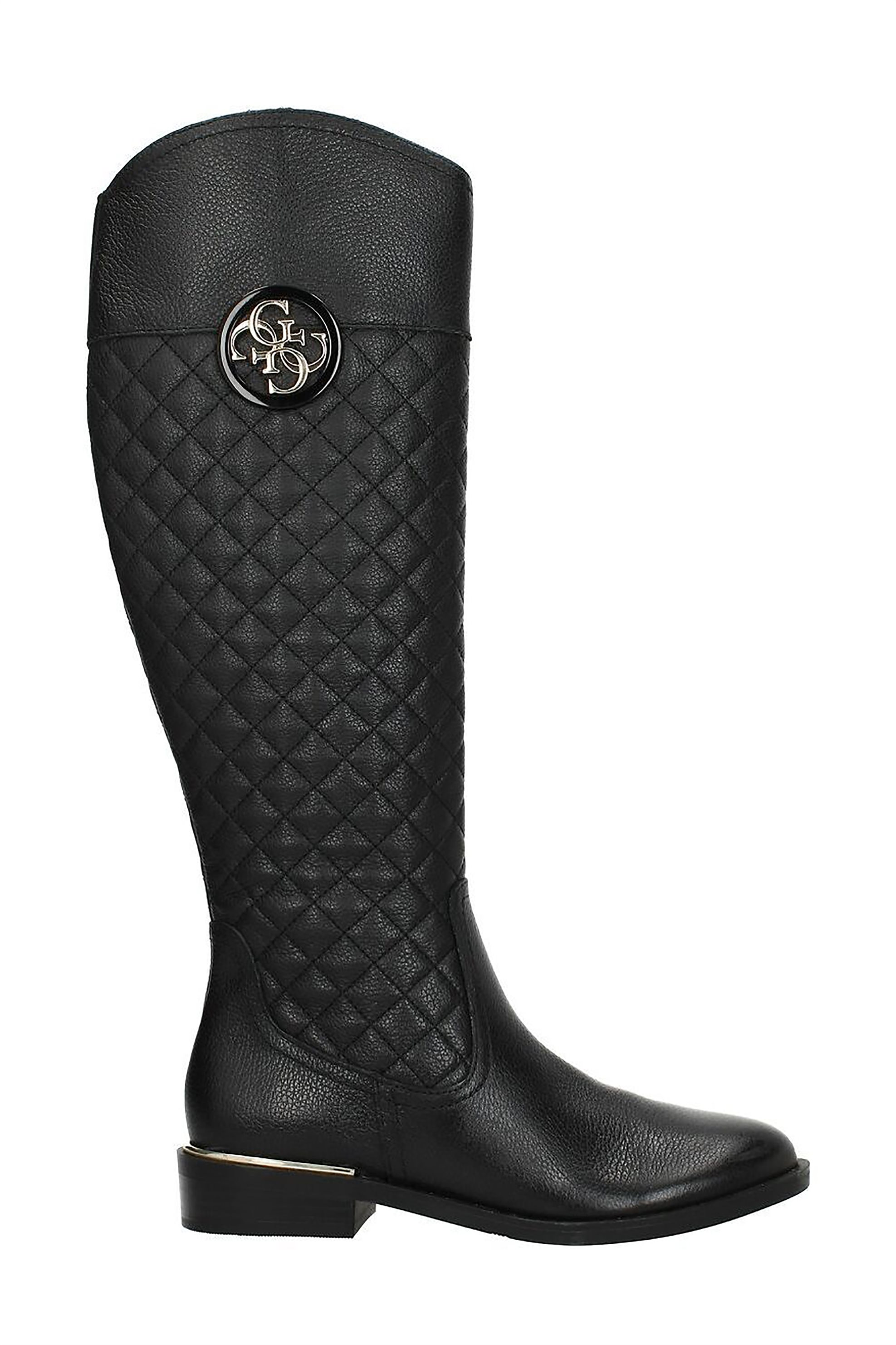 "Guess γυναικείες δερμάτινες μπότες με καπιτονέ σχέδιο ""Dabrela"" – FL8DABLEA11 – Μαυρο"