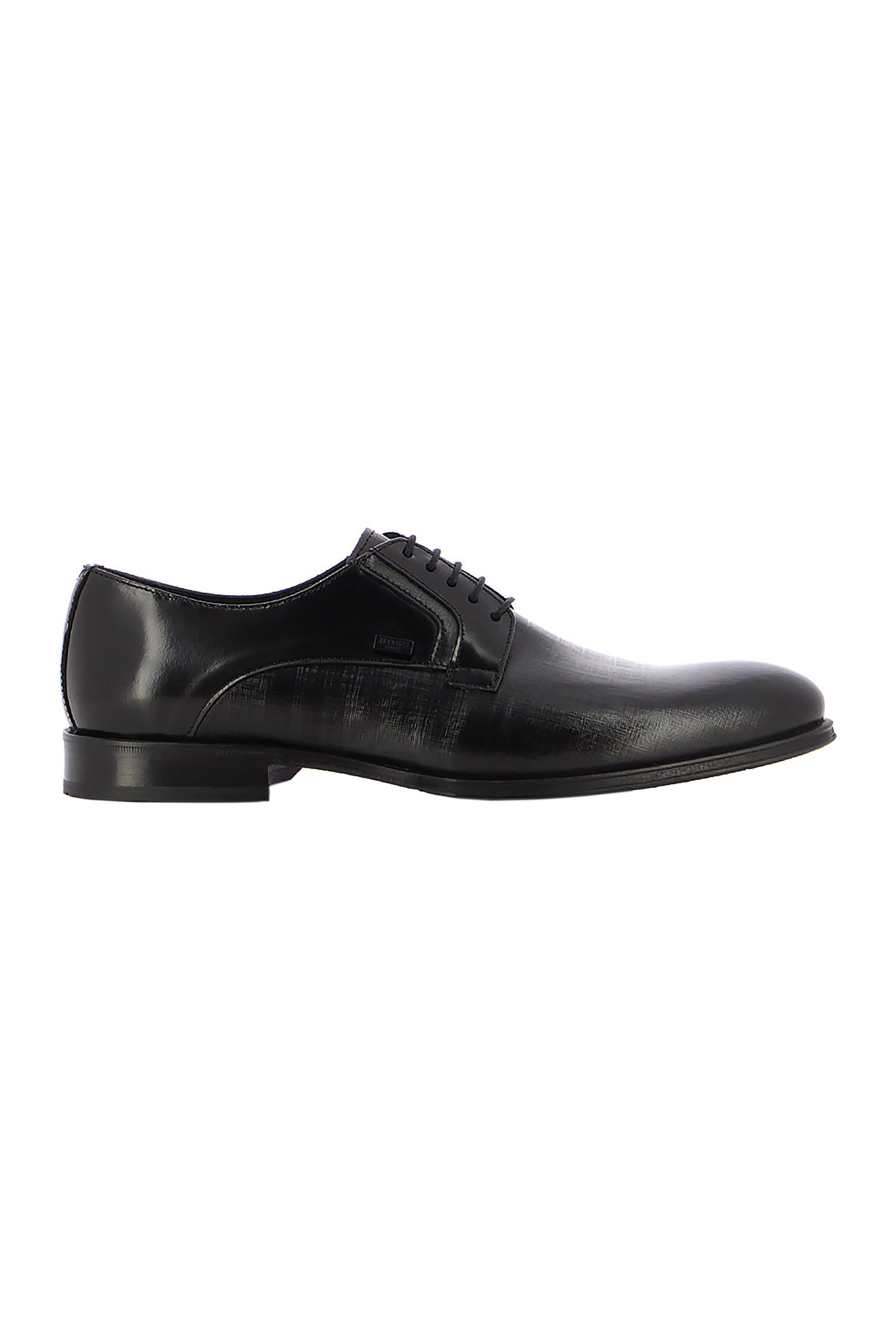 Boss Shoes ανδρικά δερμάτινα σκαρπίνια με κορδόνια – N6310 GLM – Μαύρο