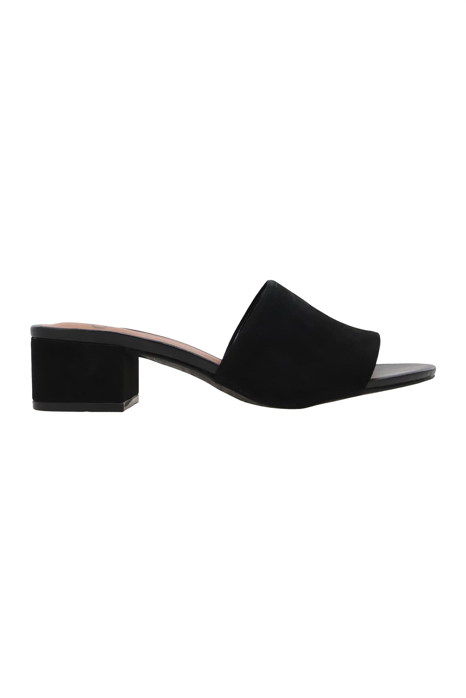 Capodarte γυναικεία δερμάτινα mules μονόχρωμα - 4014277 - Μαύρο