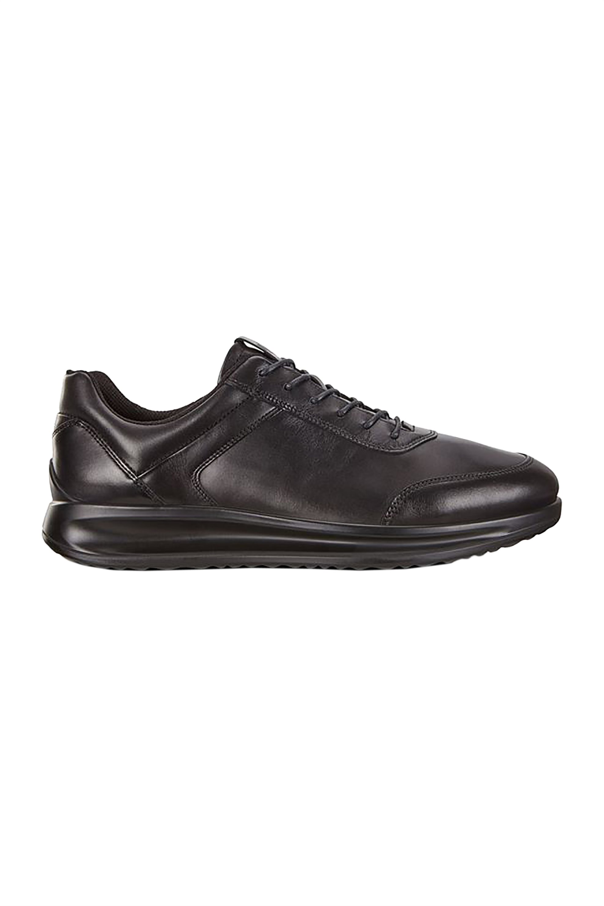 "ECCO ανδρικά δερμάτινα sneakers ""Aquet"" – 989-207124 01001 – Μαύρο"