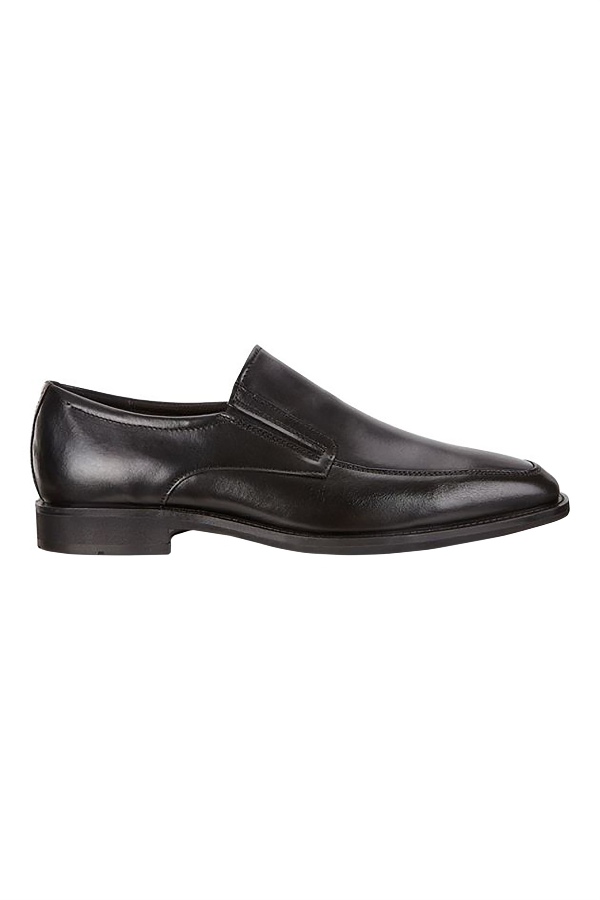 "ECCO ανδρικά δερμάτινα loafers ""Calcan"" – 989-640734 01001 – Μαύρο"