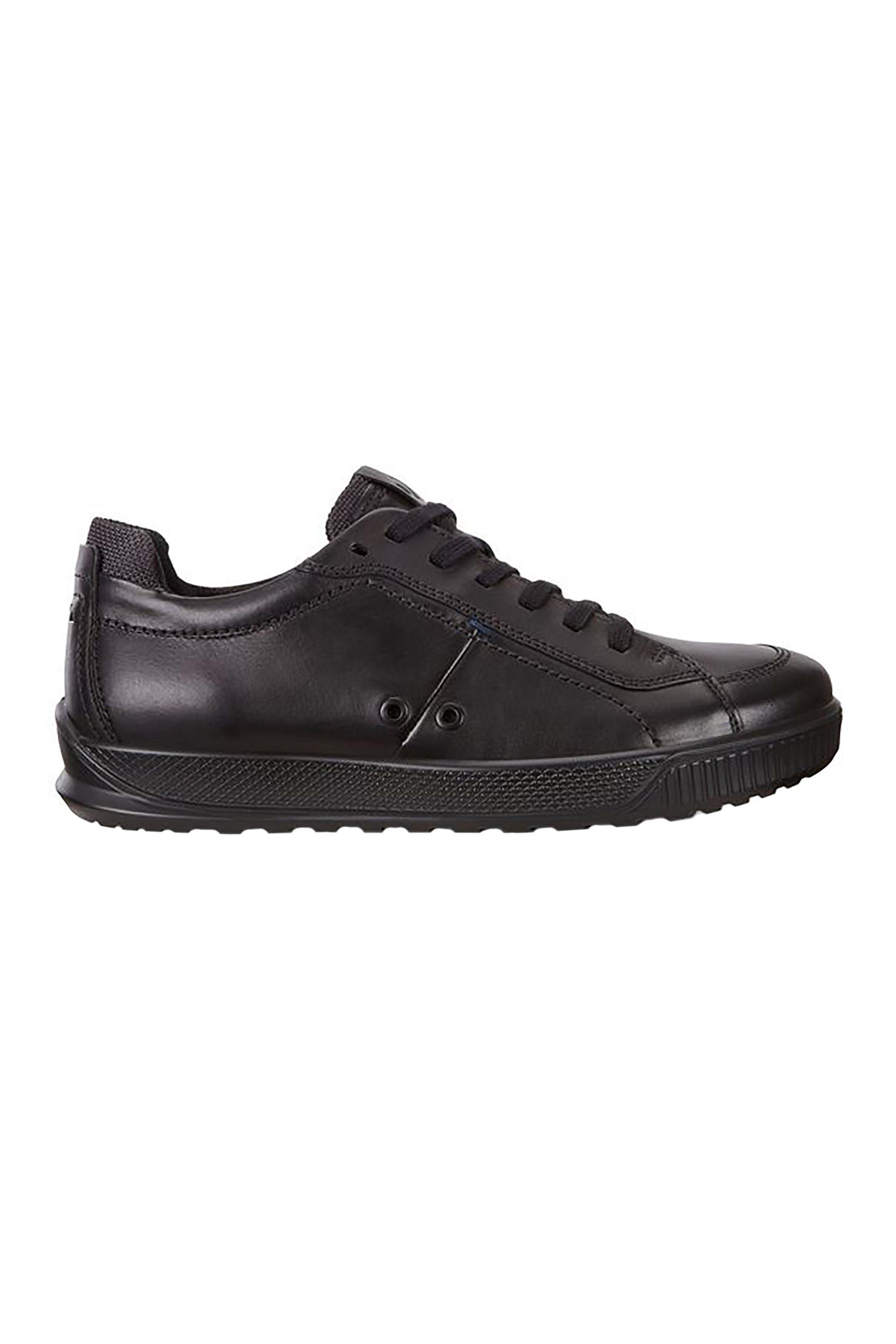 ECCO ανδρικά sneakers με κορδόνια μονόχρωμα - 989-501544 01001 - Μαύρο