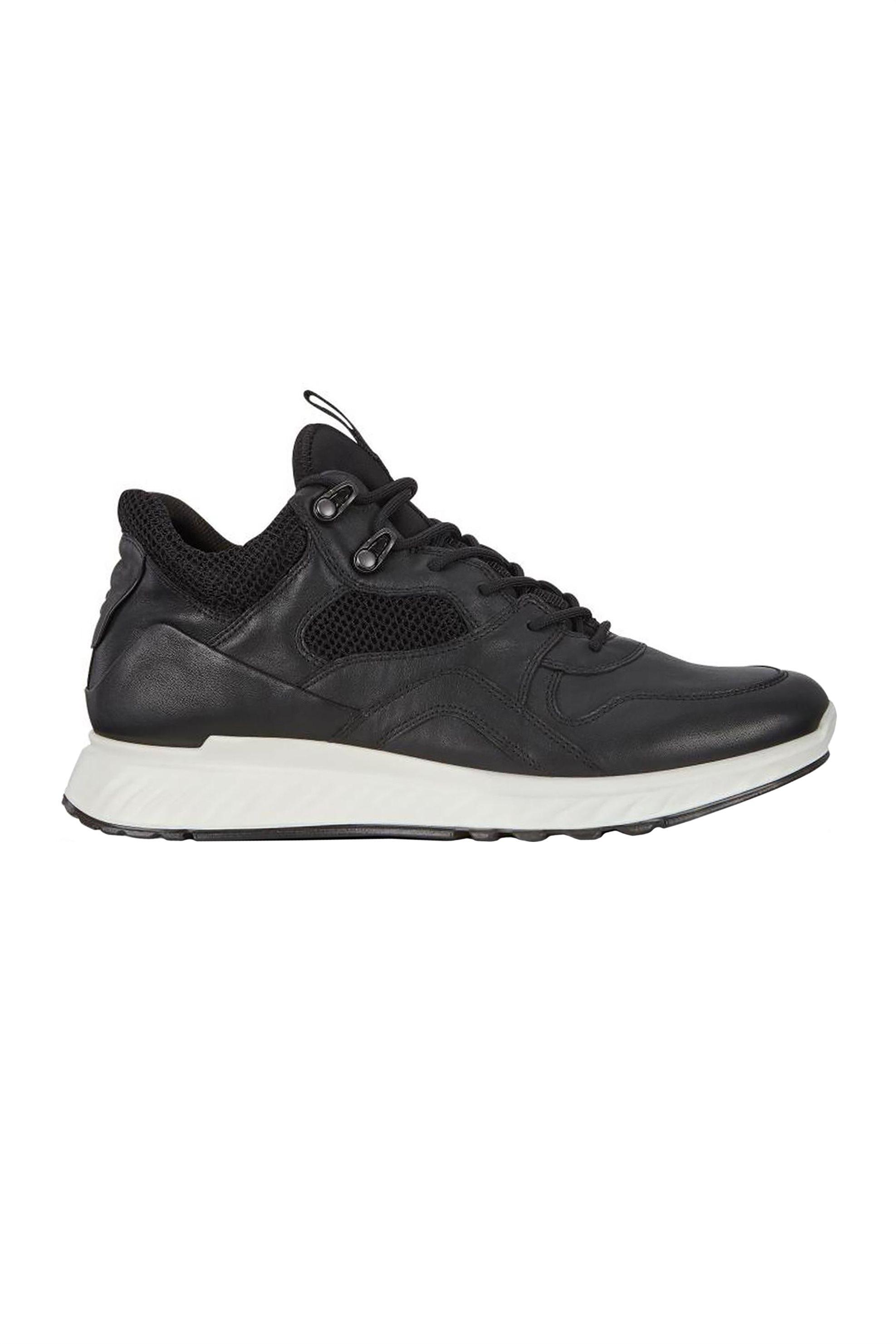 ECCO ανδρικά sneakers με διακοσμητικές ραφές – 989-837794 51052 – Μαύρο