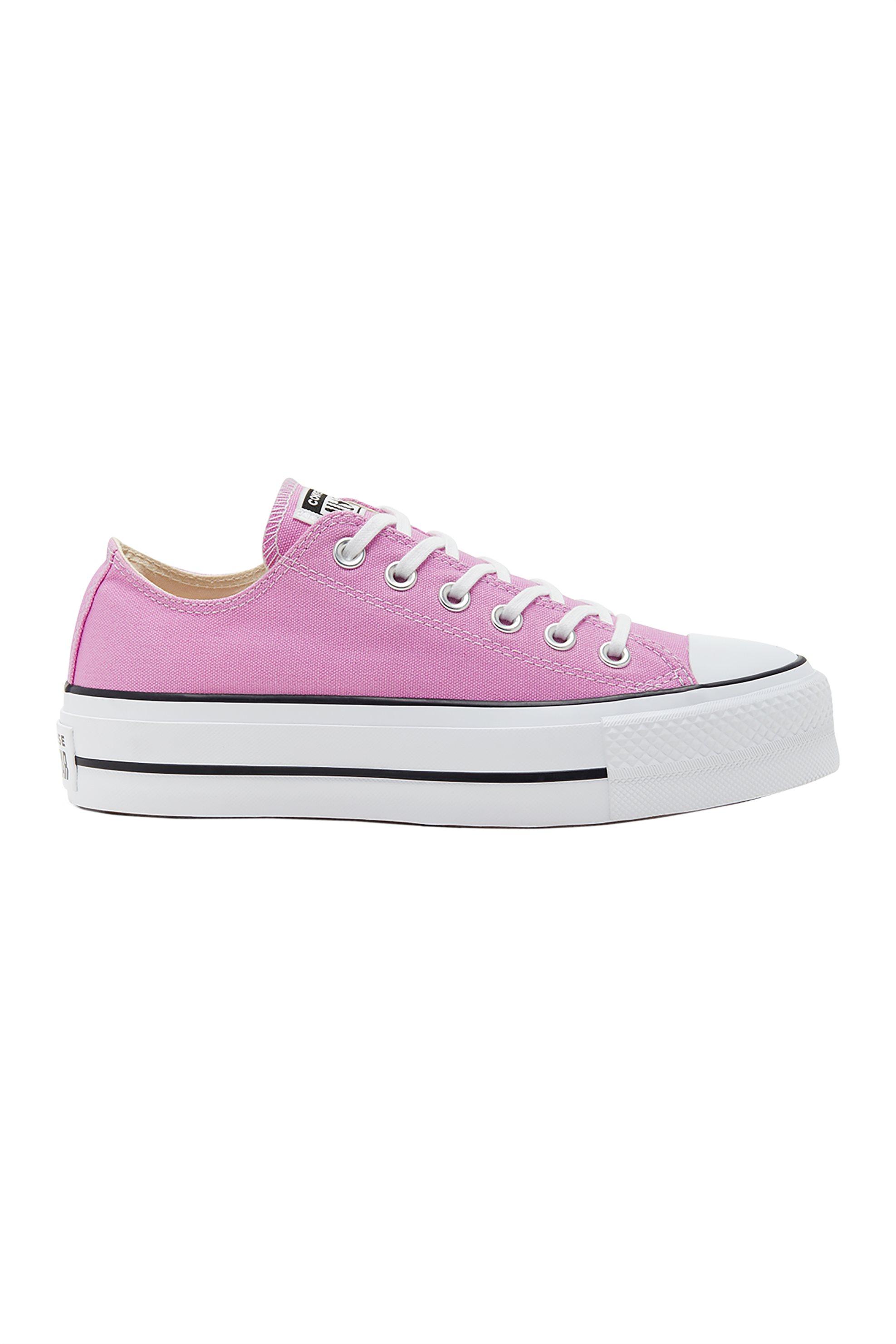 "Converse γυναικεία sneakers ""Platform Chuck Taylor All Star Low Top"" – 566756C – Ροζ"