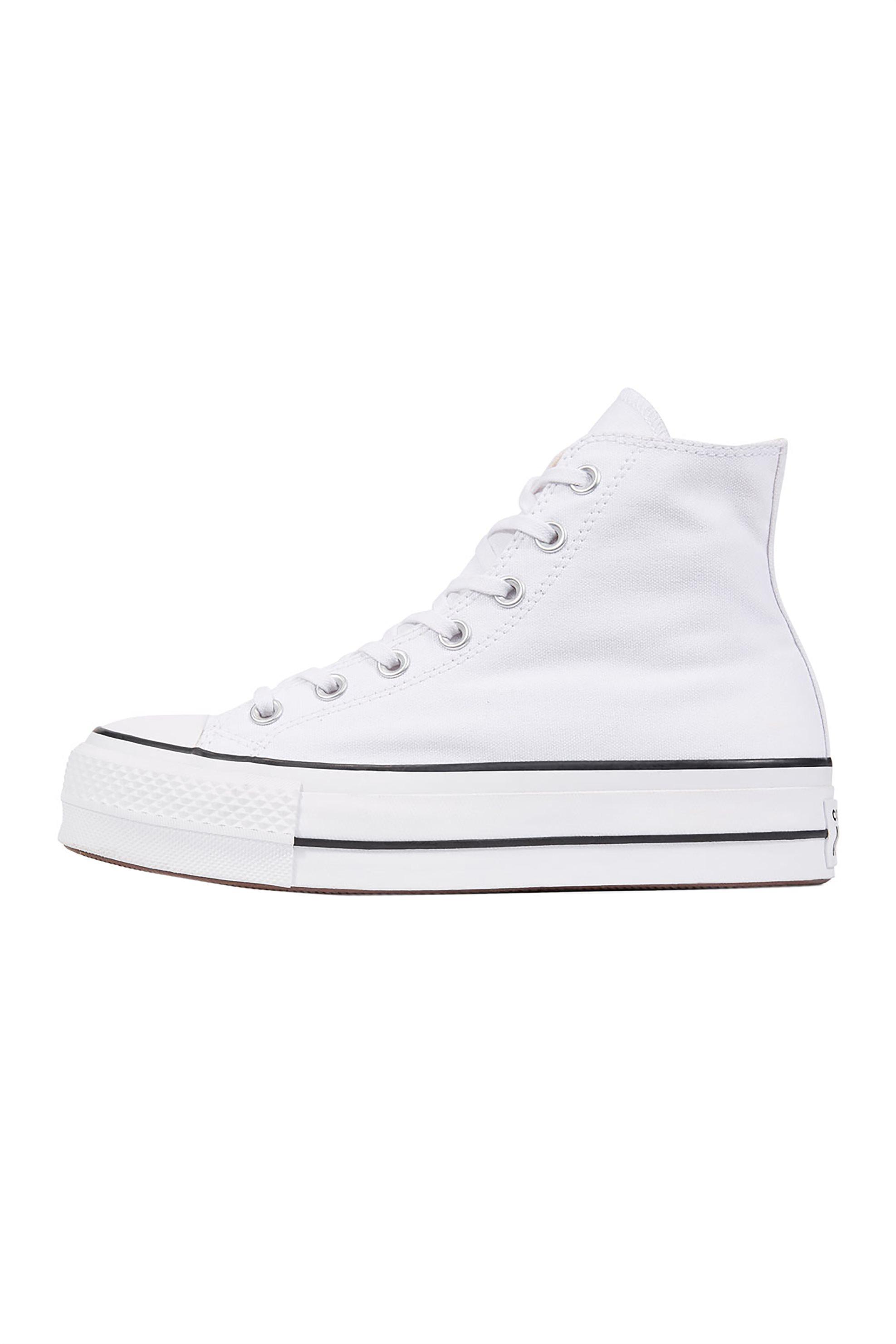 "Converse γυναικεία sneakers μποτάκια ""Chuck Taylor Platform All Star Lift High Top"" – 560846C – Λευκό"