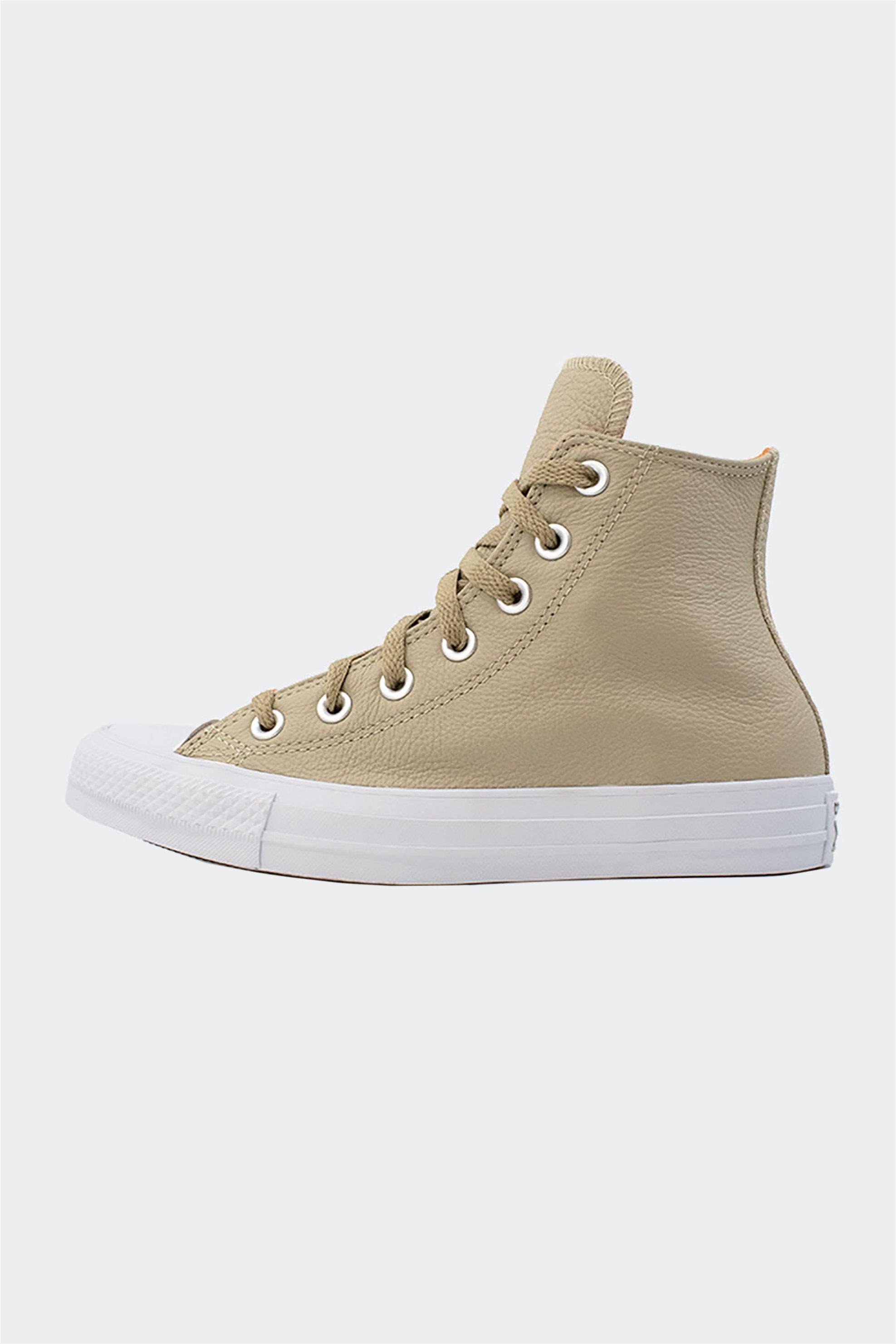 "Converse γυναικεία sneakers μποτάκια ""All Star Chuck Taylor Hi"" – 571624C – Μπεζ"
