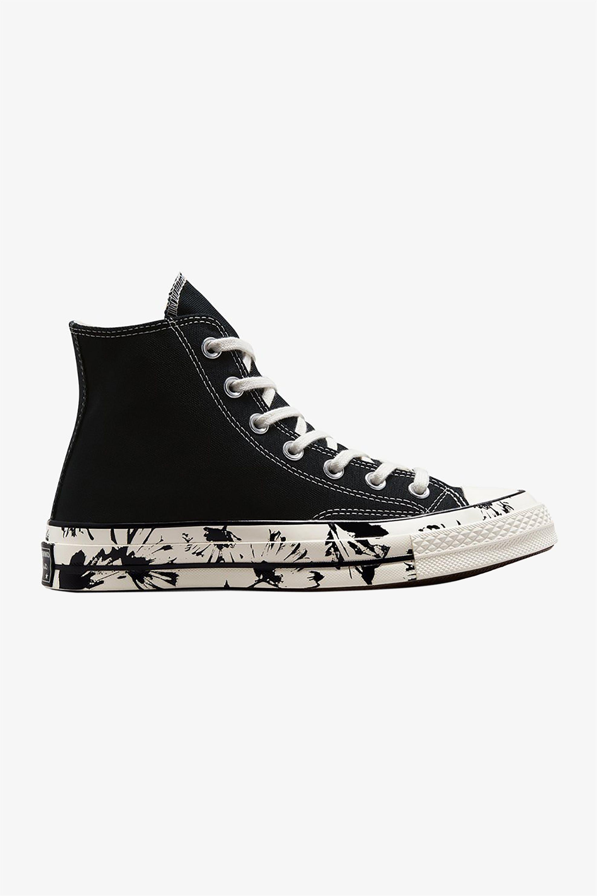 "Converse γυναικεία sneakers μποτάκια ""Chuck 70 Hi 'Floral Fusion""' – 571387C – Μαύρο"