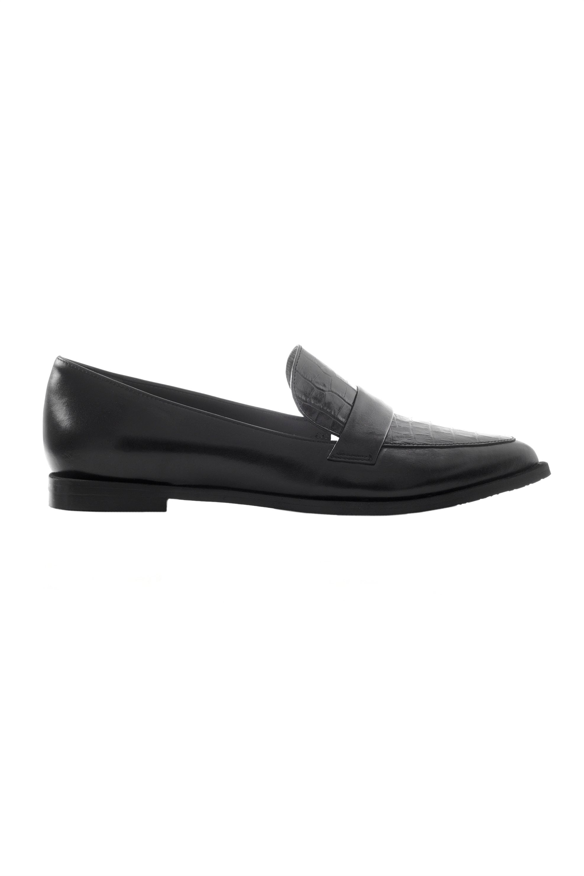 Chaniotakis γυναικεία δερμάτινα loafers μονόχρωμα - 202.01.07.00223.130 - Μαύρο