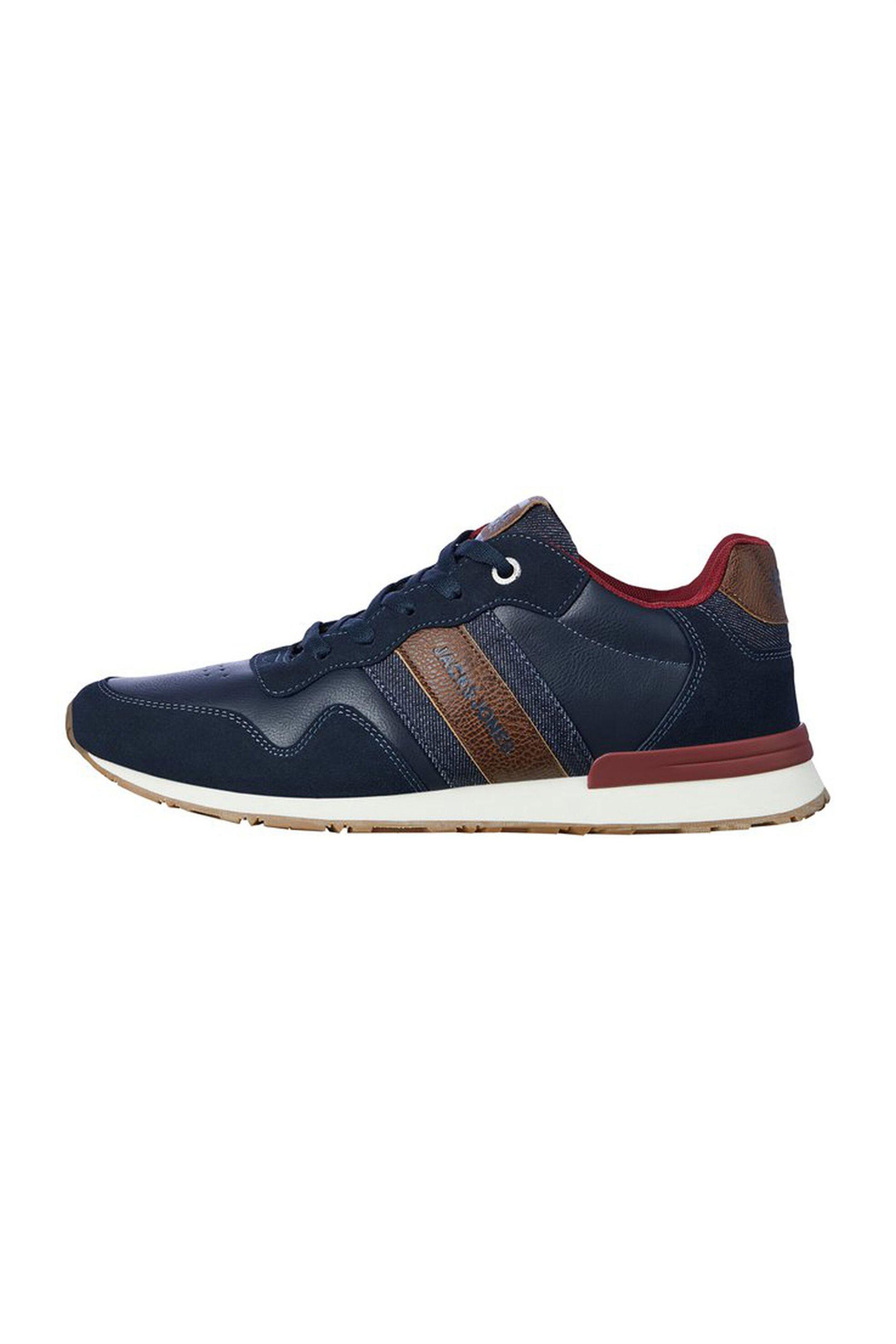 JACK & JONES ανδρικά faux leather sneakers – 12177238 – Μπλε Σκούρο