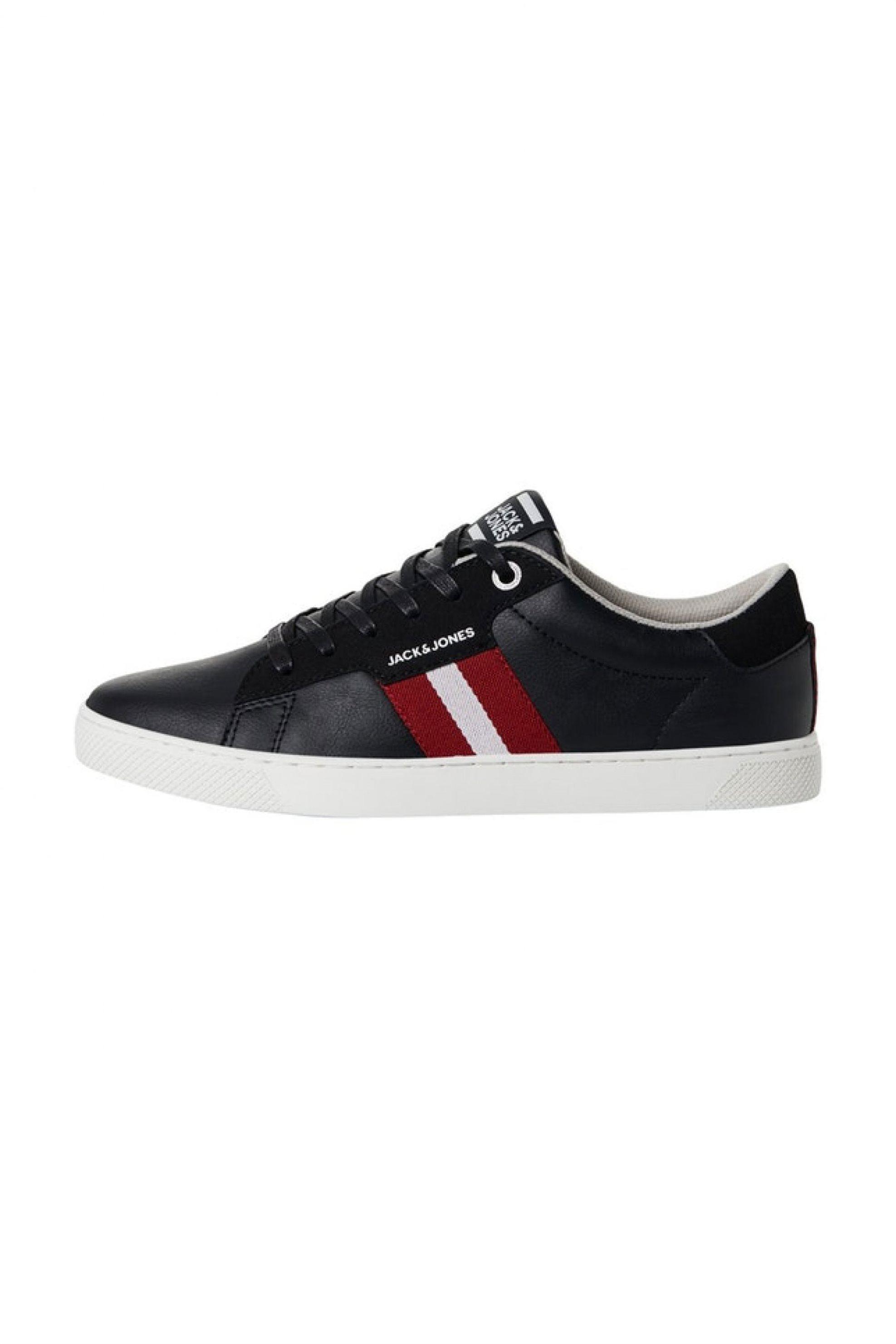 JACK & JONES ανδρικά sneakers με ριγέ λεπτομέρειες – 12177351 – Ανθρακί