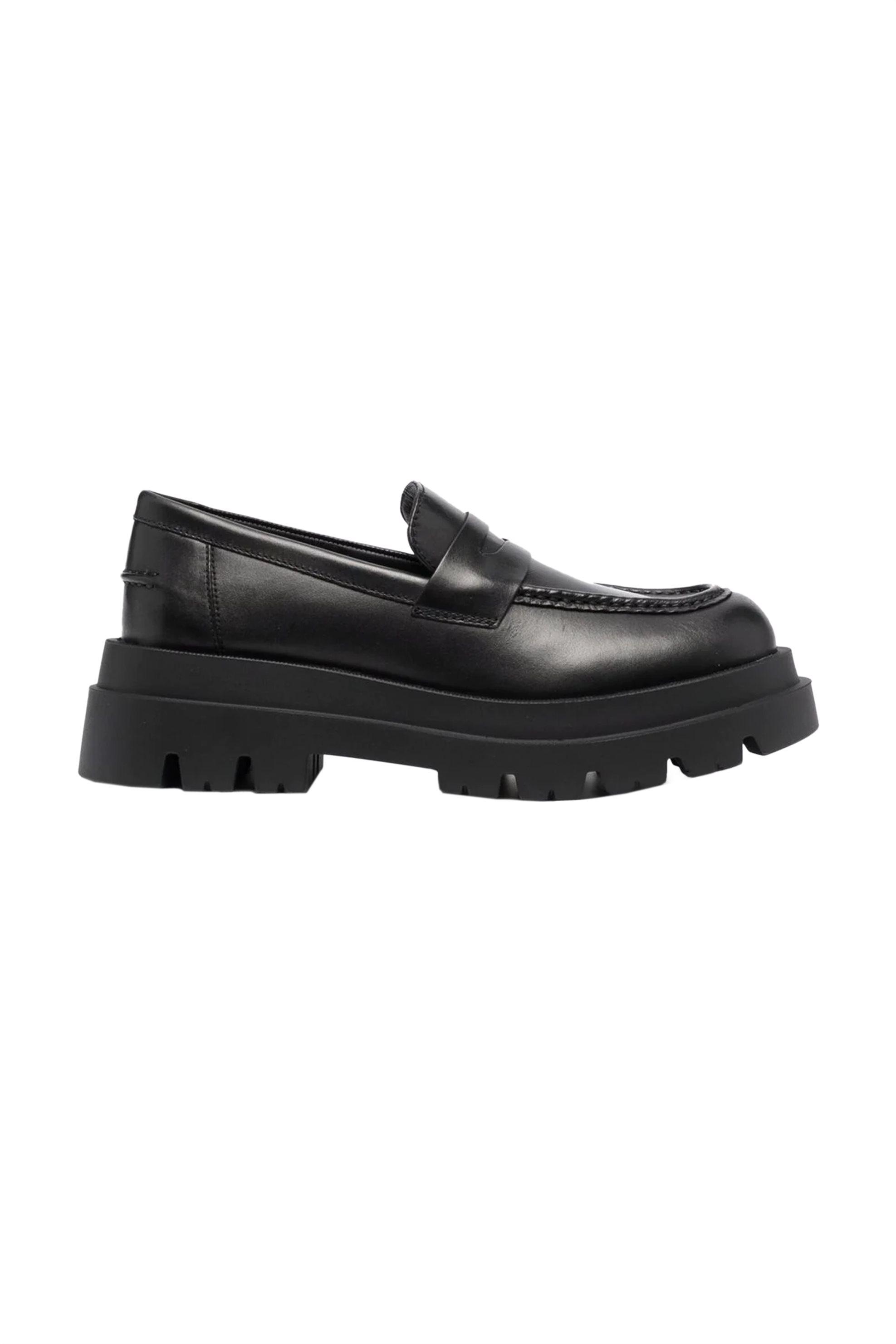 Twinset γυναικεία chunky loafers δερμάτινα – 212TCP234 – Μαύρο