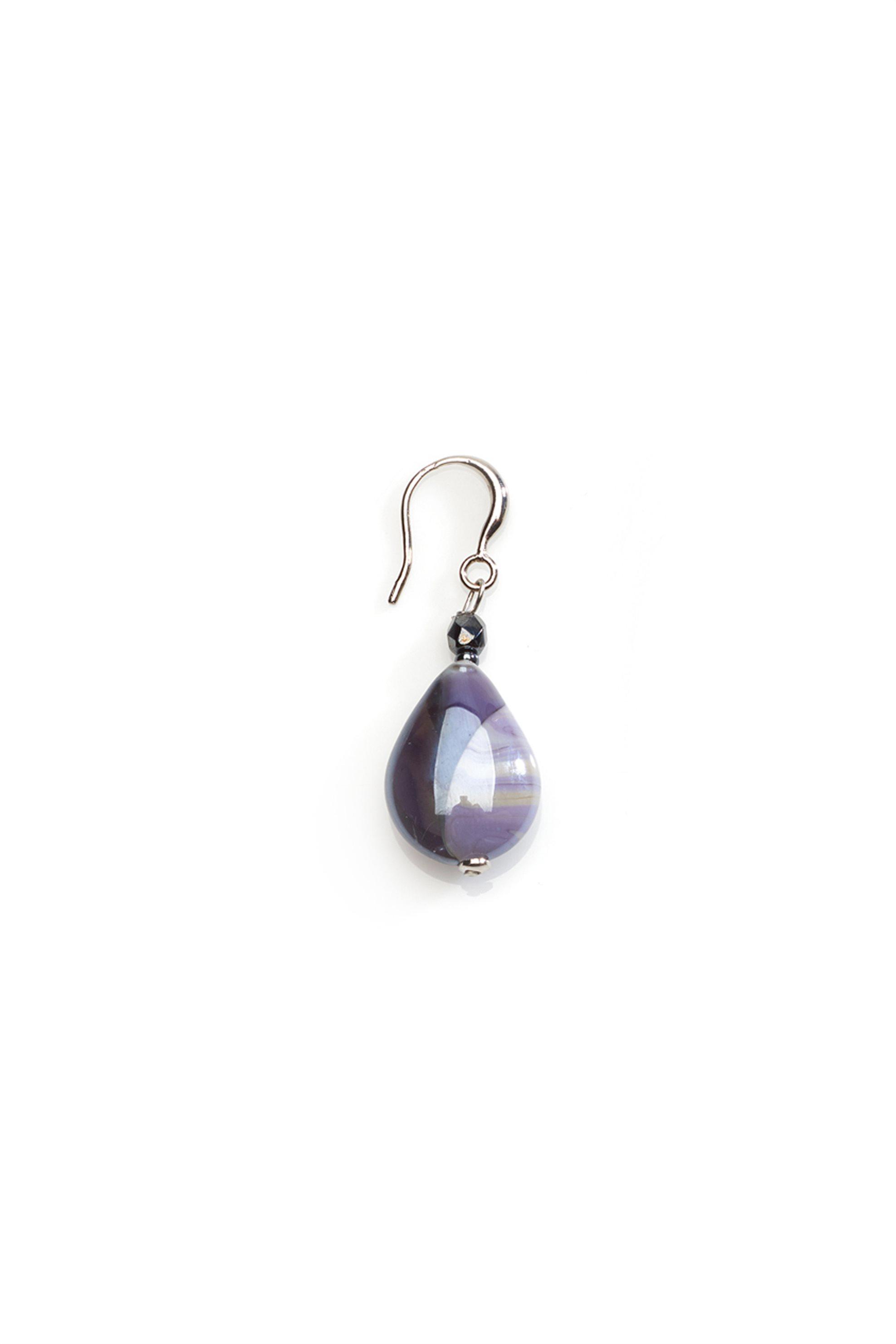 Χειροποίητα μικρά κρεμαστά σκουλαρίκια Vignole Basic B από μωβ γυαλί Μουράνο Ant γυναικα   αξεσουαρ   κοσμήματα   σκουλαρίκια