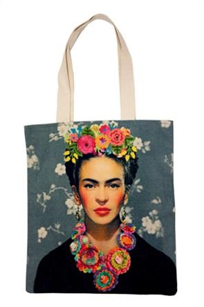 Synchronia γυναικεία τσάντα ώμου με κεντημένο σχέδιο Frida Kahlo
