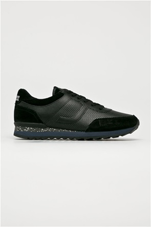 Trussardi ανδρικά sneakers με suede λεπτομέρειες και λογότυπο