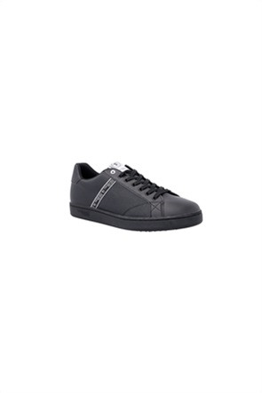 Trussardi ανδρικά sneakers με υφασμάτινη φάσα με logo print