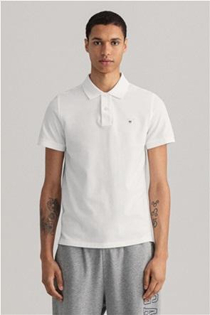 Gant ανδρική πικέ πόλο μπλούζα μονόχρωμη