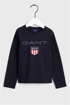 """Gant παιδική μπλούζα με logo print """"Shield"""""""