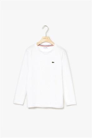 Lacoste παιδική μπλούζαμακρυμάνικη μονόχρωμη Kids Collection