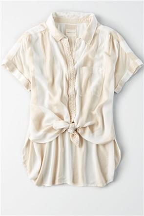 AE Short Sleeve Striped Button-Down Shirt