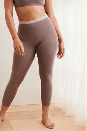 Aerie Play Real Me Scallop Band High Waisted 7/8 Legging