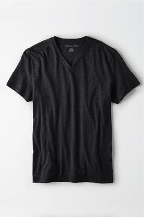 AE Logo Slub V-Neck T-Shirt