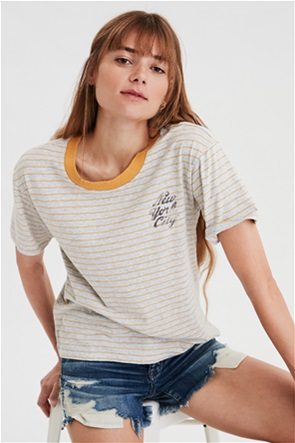 AE Striped NYC Champs Graphic T-Shirt