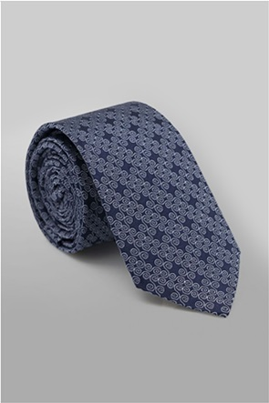 Oxford Company ανδρική μεταξωτή γραβάτα με γεωμετρικό σχέδιο