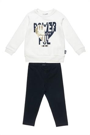 "Alouette παιδικό σετ φόρμας με μπλούζα με print και κολάν ""Five Star"" (12 μηνών-5 ετών)"
