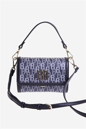 Roccobarocco γυναικεία τσάντα crossbody με all-over logo print