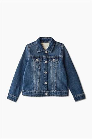 ΟVS παιδικό denim jacket με βολάν (4-10 ετών)