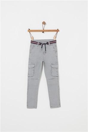 OVS παιδικό παντελόνι cargo μονόχρωμο