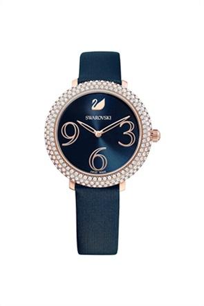 Swarovski Crystal Frost Watch, Leather Strap, Rose-gold tone PVD