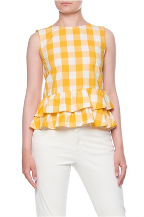 "Emme by Marella γυναικεία μπλούζα αμάνικη με βολάν ""Oblate"""