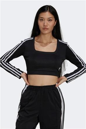 "Adidas γυναικεία μπλούζα cropped  ""Adicolor Classics"""