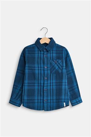 Esprit παιδικό καρό πουκάμισο με τσέπη