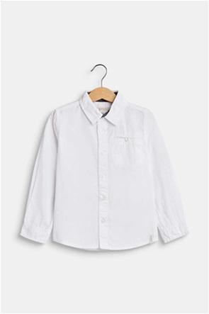 Esprit παιδικό μονόχρωμο πουκάμισο με τσέπη