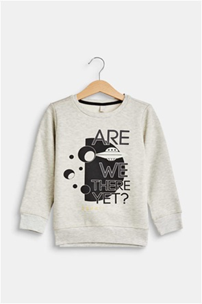 Esprit παιδικό φούτερ με letter print Are We There Yet