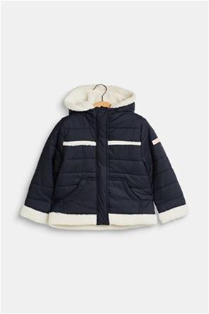 Esprit παιδικό μπουφάν με κουκούλα και λεπτομέρειες από faux μαλακή γούνα