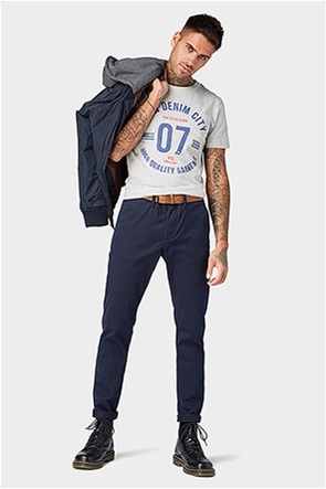 Tom Tailor ανδρικό παντελόνι chino με ζώνη