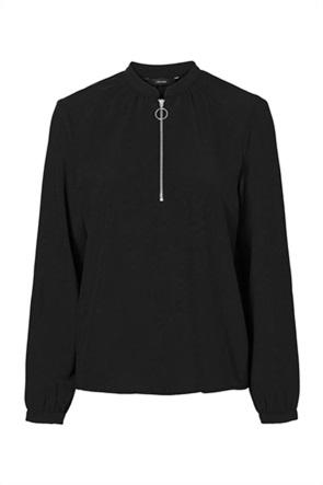 Vero Moda γυναικεία μακρυμάνικη μπλούζα με φερμουάρ