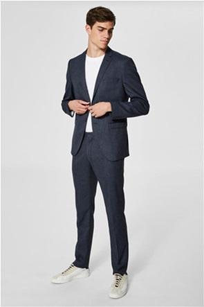 SELECTED ανδρικό παντελόνι με μικροσχέδια Slim fit
