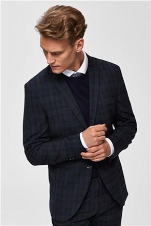 Selected ανδρικό καρό σακάκι δίκουμπο Slim fit