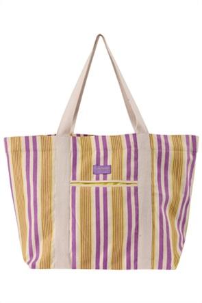 Funky Buddha γυναικεία τσάντα παραλίας με ρίγες