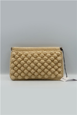 Speira γυναικεία τσάντα clutch χειροποίητη με πλεκτό σχέδιο