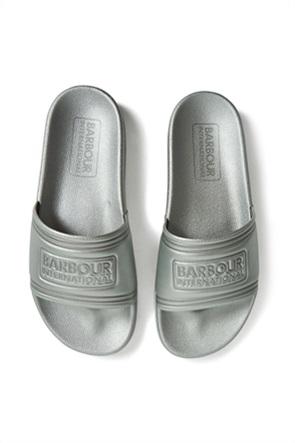 Barbour γυναικείες σαγιονάρες slide με ανάγλυφο λογότυπο
