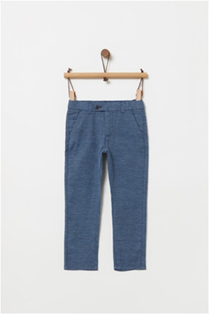 OVS παιδικό λινό παντελόνι melange