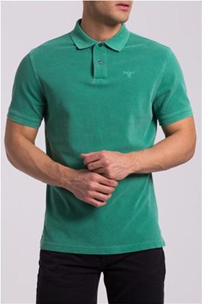 Barbour ανδρική πικέ πόλο μπλούζα με κεντημένο logo