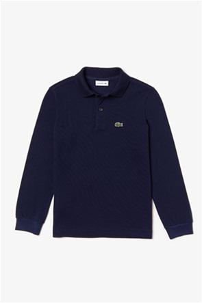 Lacoste παιδική polo μπλούζα μακρυμάνικη